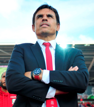On the up: Chris Coleman's stock is at a new high