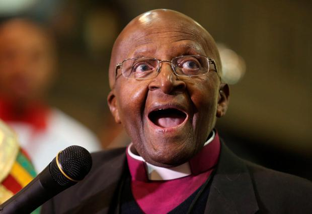 Campaigner: Desmond Tutu. (AP Photo/Denis Farrell)