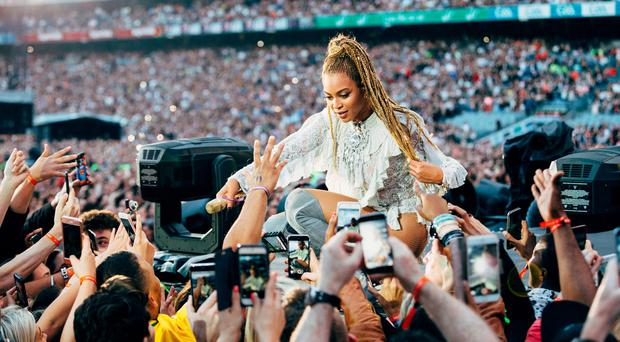 Beyonce performs at Croke Park Stadium. (Photo: Andrew White/Invision for Parkwood Entertainment/AP Images)