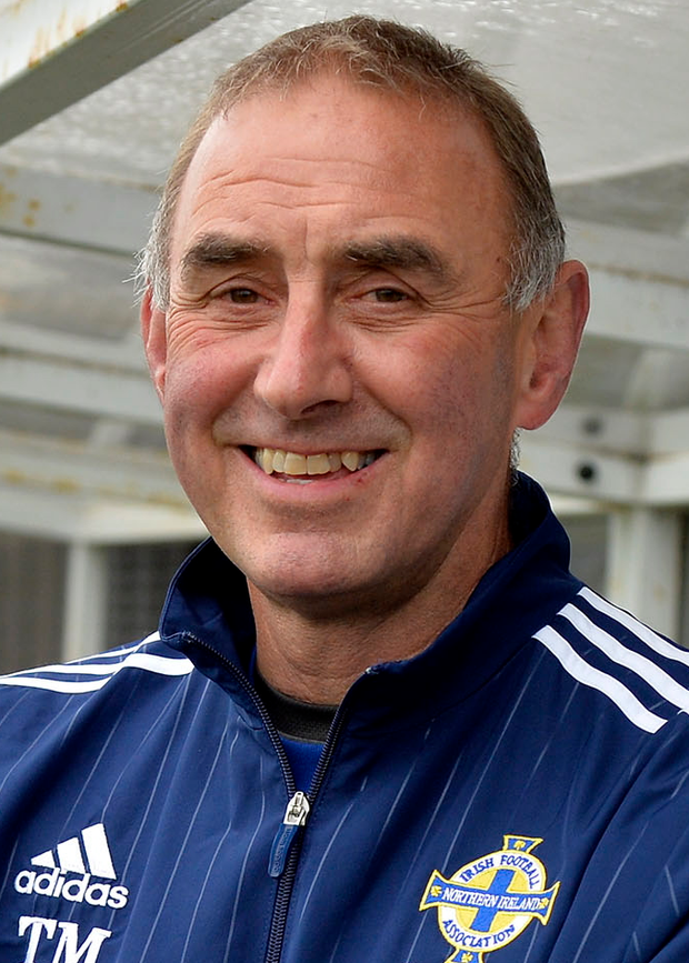 Former Glentoran player Terry Moore is managing the Northern Ireland side
