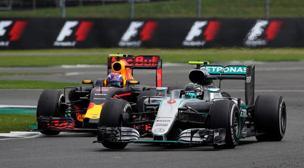 Nico Rosberg was hit by a timed penalty in the British Grand Prix