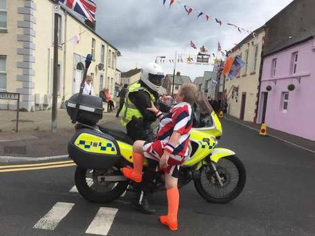 PSNI Ards posted a picture of a reveller trying to hitch a ride. Pic: PSNI Ards