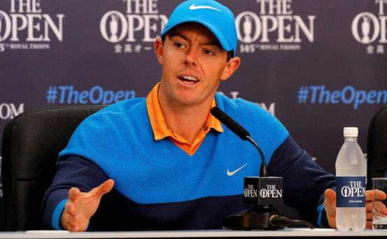 Making his point: Rory McIlroy, at a press conference ahead of The Open at Royal Troon, said he felt no responsibility to play in Rio to grow the game