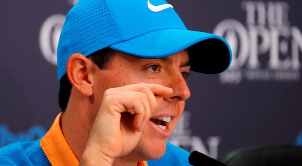 Direct answer: Rory addresses the Olympic question at Troon yesterday