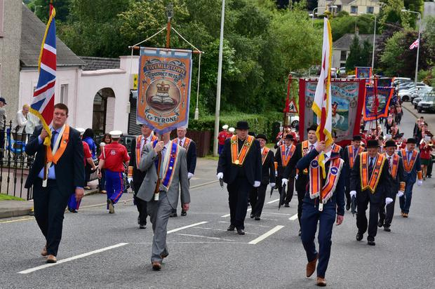 12th July Celebrations in Aughnacloy, County Tyrone. Picture by Mark Winter