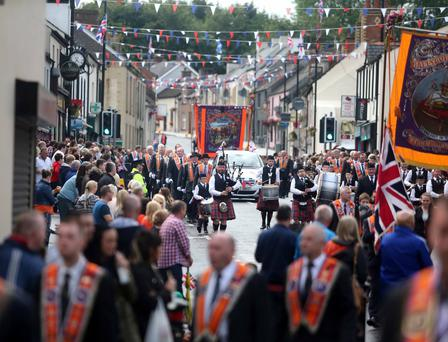 The Twelfth parade in Randalstown. Pic Steven McAuley/McAuley Multimedia
