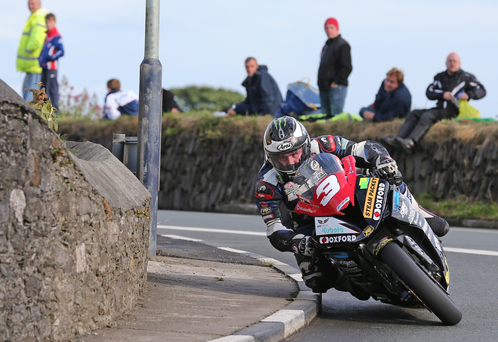 Out on his own: Michael Dunlop won last night's Superbike race by 25 seconds