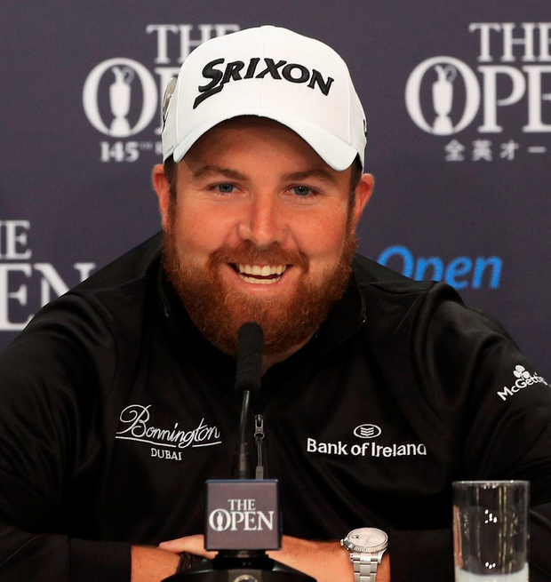 Confident mood: Shane Lowry says he's taking positives from his near miss at the US Open