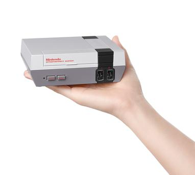 Photo issued by Nintendo of the new Nintendo Entertainment System Classic Mini which is to be launched later this year. PA