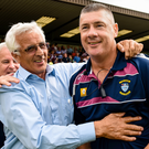 Big ask: Westmeath boss Tom Cribbin (right) will remind his players that shocks can happen