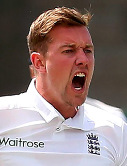 Gotcha: Jake Ball took a debut wicket