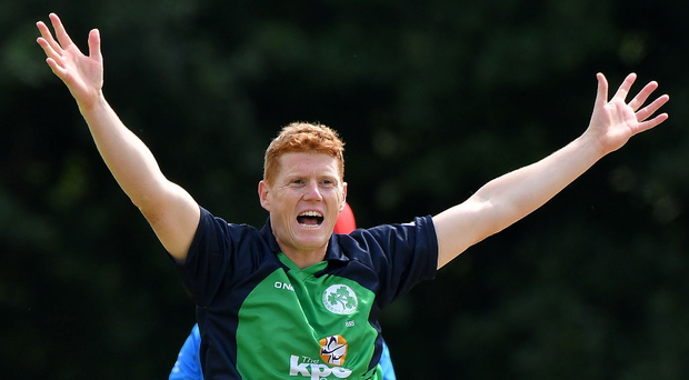 Leading the way: Ireland's Kevin O'Brien put in an impressive display, hitting his highest ODI score for three years and getting amongst the wickets