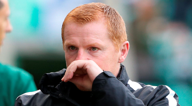 Angry: Neil Lennon was sent off