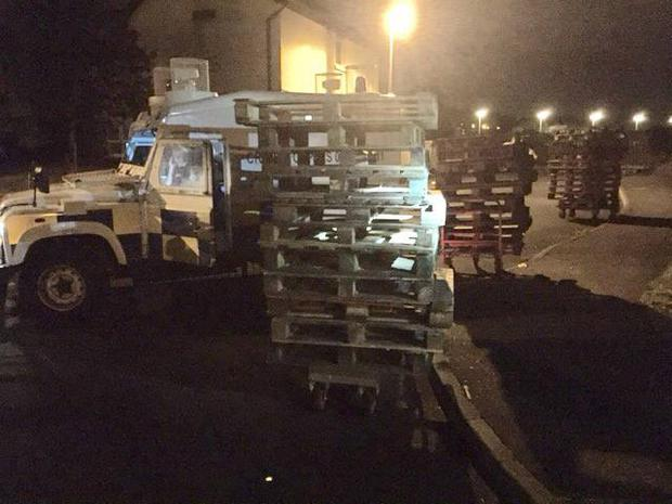 The pallets the police were able to save. Pic PSNI