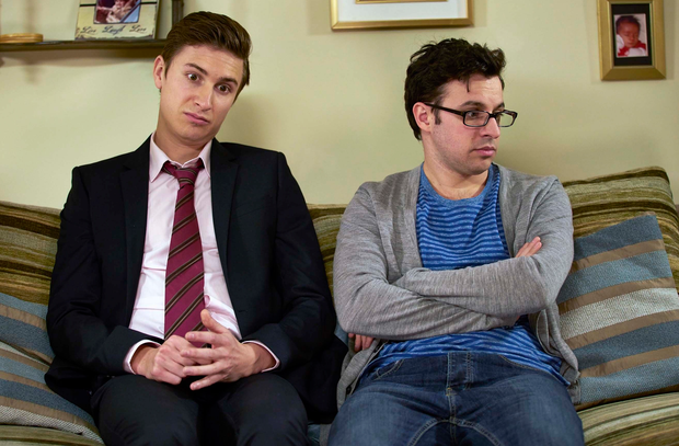 Riffing: Tom (left) and Simon have a great on-screen chemistry