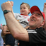 Family joy: Mickey Harte celebrates with grandson Michael