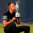 You beauty: Henrik Stenson kisses the famous Claret Jug
