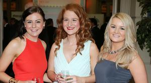 Press Eye - Belfast - Northern Ireland - 18th July 2016 - Photo by Kelvin Boyes / Press Eye Katie, Reid, Nicola Doomer and Aimee Larkin pictured at the BSA Annual Gala Dinner Dance 2016 in the Ulster Hall, Belfast