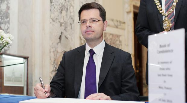 Press Eye - Belfast - Northern Ireland - 18th July New Secretary of State for Northern Ireland James Brokenshire makes his first official appointment at Belfast City Hall where he signed a book condolence for the victims of the Nice terrorist attack attack in France. Picture by Jonathan Porter/PressEye