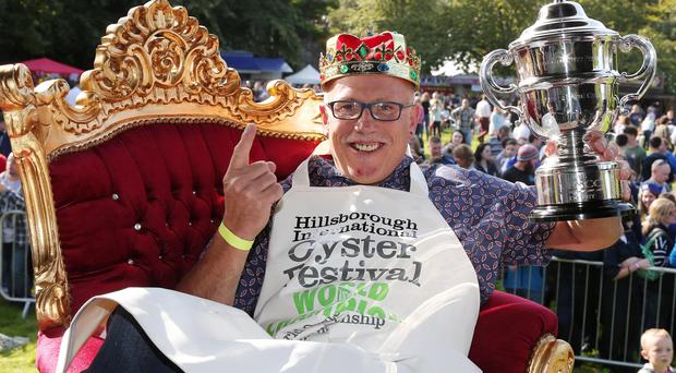Colin Shirlow has won every oyster-eating prize over the past decade