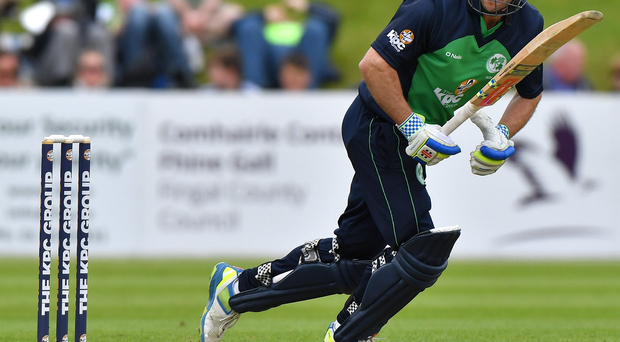 Angry: Ed Joyce was left fuming after his controversial run-out