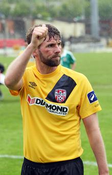 No big comeback: Paddy McCourt won't be back in a Derry City shirt with Glenavon now favourites to snap up the Northern Ireland star