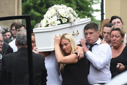 Ronan McGavigan was killed on the Lone Moor Road on Sunday. Picture By: Pacemaker