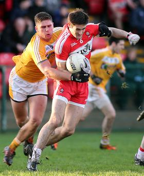 On the up: Chrissy McKaigue is delighted that Derry have managed to turn