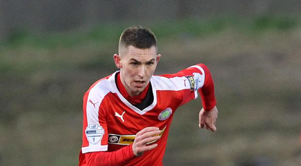 Tough test: Daniel Hughes knows Cliftonville are facing a difficult challenge as they aim to beat AEK Larnaca in the Cypriot sunshine