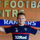 Dream move: Northern Ireland ace Lee Hodson is already loving life with Gers