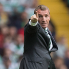 Relief: Celtic manager Brendan Rodgers