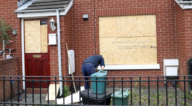 Press Eye A man was taken to hospital after being attacked by a number of masked men armed with hammers in north Belfast on Wednesday night