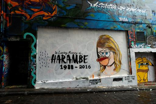 MELBOURNE, AUSTRALIA - JULY 21: A mural is seen in Hosier Lane on July 21, 2016 in Melbourne, Australia. The original mural by Melbourne graffiti artist Lushsux depicted Taylor Swift, painted in response to the current social media spat between Taylor Swift and Kim Kardashian. Kardashian released a recording this week of her husband Kanye West speaking to Swift about his lyrics referring to her in his song 'Famous.' Swift has denied she approved the lyrics about her. (Photo by Robert Cianflone/Getty Images)