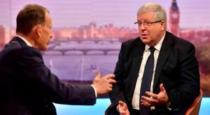 Chairman of the Conservative Party Patrick McLoughlin appears on The Andrew Marr Show on July 24, 2016 in London, England. (Photo by Jeff Overs/BBC via Getty Images)
