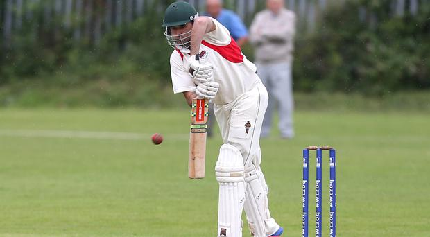 Late runs: Kyle McCallan scored a quick 35 for Waringstown but the champions lost out in the rain to Instonians