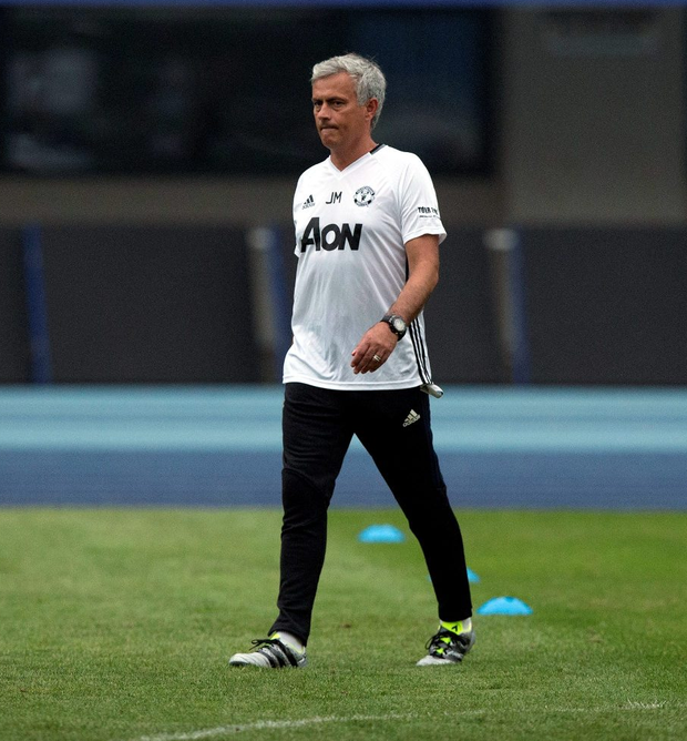 Friendly concerns: Jose Mourinho in the Bird's Nest StadiumJose