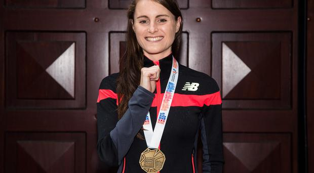 Fast lane: Ciara Mageean finished second in the 800m in Santry and her lifetime best time is a huge confidence boost going into the Rio Olympics