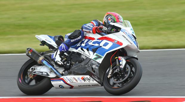 One two: Michael Laverty took a victory and a second place in the British Superbike series at Thruxton