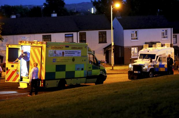 Police at the scene of the attack. ( Photo by Kevin Scott / Presseye )