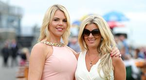 Press Eye Belfast - Northern Ireland 22nd July 2016 Magners Race Evening at Down Royal Racecourse, Maze. Michelle Wylie and Lucy McCreery pictured at Down Royal Racecourse. Photo by Kelvin Boyes / Press Eye