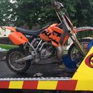 The scrambler seized in Armagh. Pic: PSNI