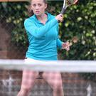Fine form: Laura Reid is through to the second round of the girls' event