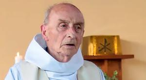This picture obtained on the website of the Saint-Etienne-du-Rouvray parish on July 26, 2016 shows late priest Jacques Hamel celebrating a mass on June 11, 2016 in the church of Saint-Etienne-du-Rouvray, Normandy. AFP/Getty Images