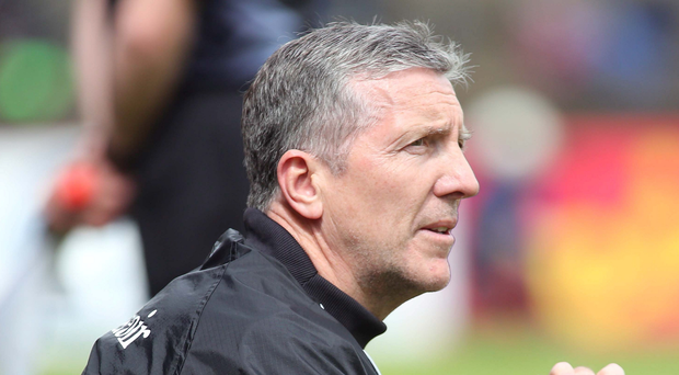 Biting back: Derry boss Damian Barton is just one manager who has criticised media coverage