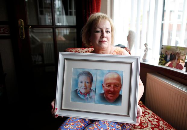 Precious memories: Joanne Grimley, from Belfast, who has had counselling after losing her mum and dad