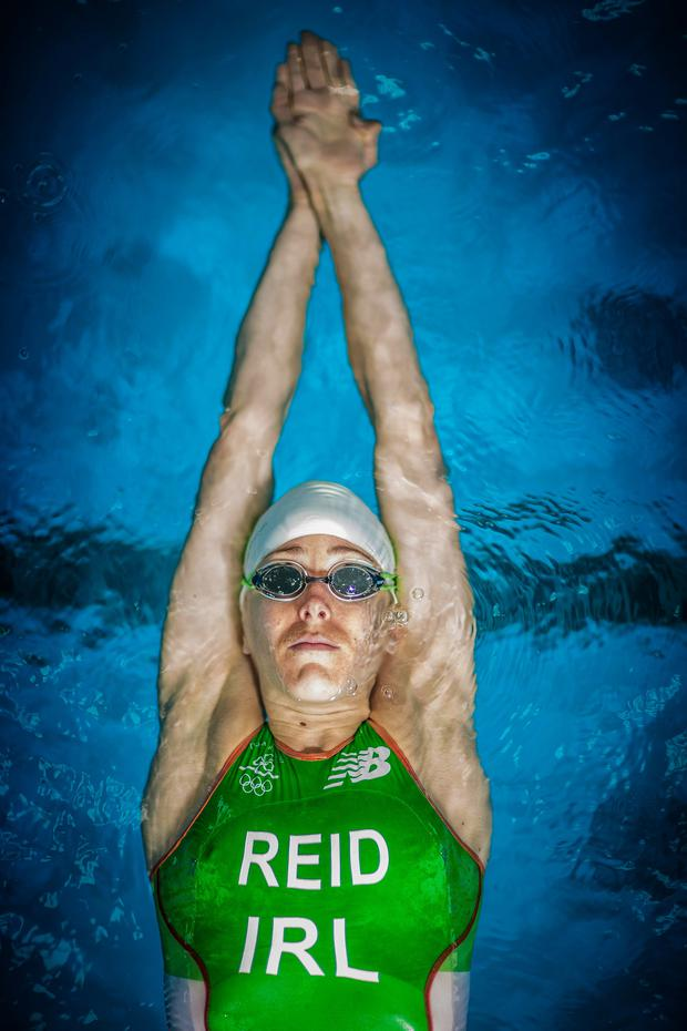 Wave racer: Aileen Reid is aiming for a strong showing in the triathlon at the Rio Olympics
