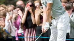 1D'S Niall Horan at Galgorm Castle where he played in the Pro Am