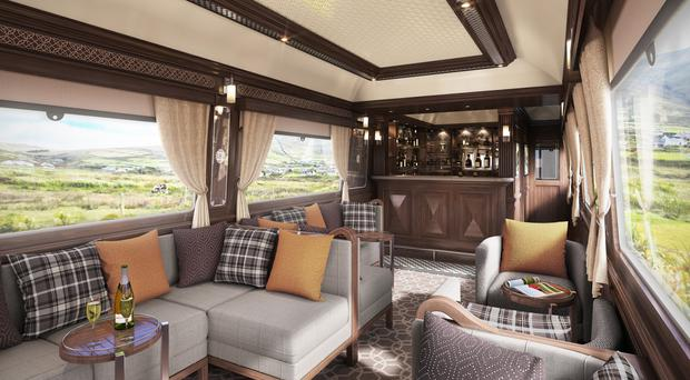 One of the carriages on Belmond's Grand Hibernian