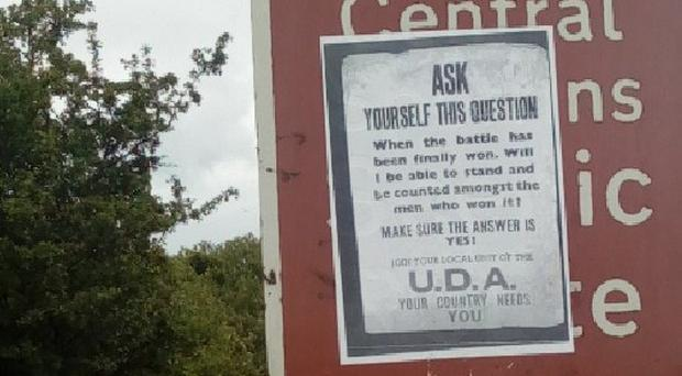 This UDA recruitment poster in has sparked anger