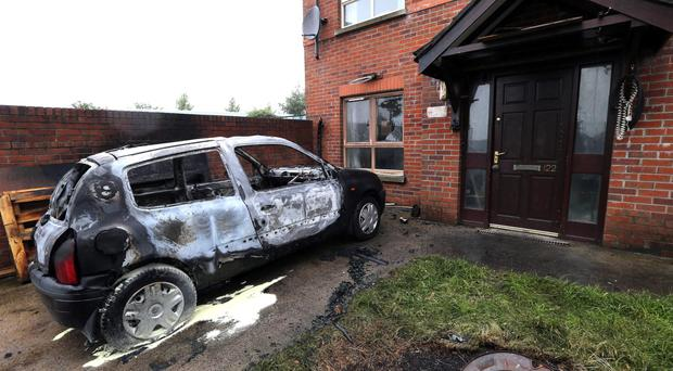 Police investigating two arson attacks on cars in the Cliftonville Road and Clifton Park Avenue areas of Belfast. Pacemaker Belfast